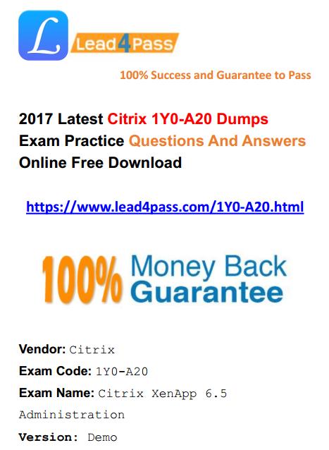1Y0-A20 dumps