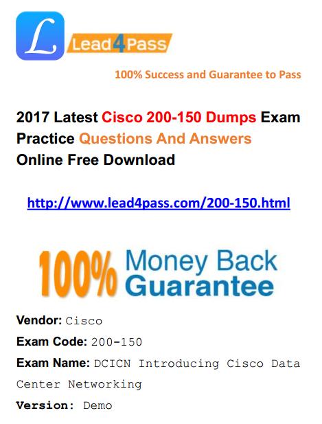 Cisco Ccna Data Center 200 150 Dumps Exam Files And Youtube