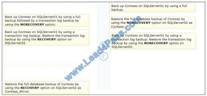 lead4pass 70-462 exam question q5-1