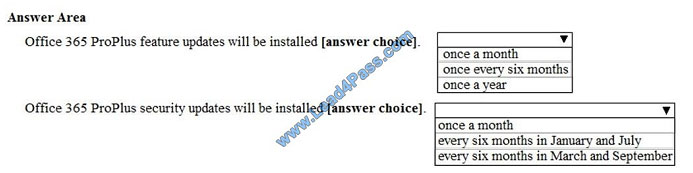 lead4pass ms-100 exam question q10-1