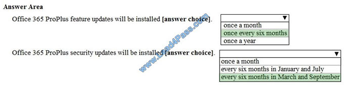 lead4pass ms-100 exam question q10-2