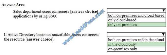 lead4pass ms-100 exam question q5-2