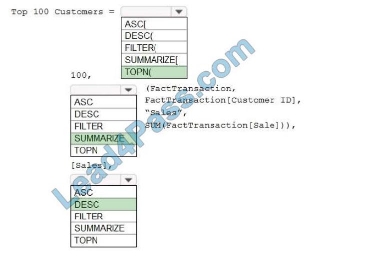 microsoft da-100 certification exam q5-1